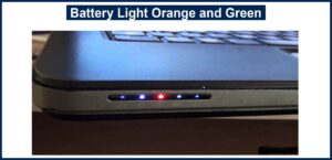 Battery Light Orange and Green