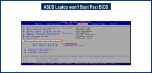 ASUS Laptop won't Boot Past BIOS