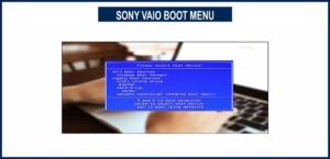 SONY VAIO BOOT MENU